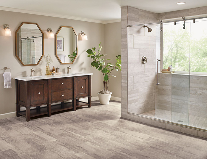 Coles Fine Flooring | Armstrong Luxury Vinyl Tile bathroom