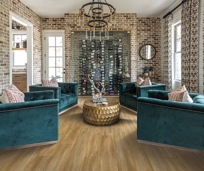 Coles Fine Flooring   Karastan Luxury Vinyl Plank living room