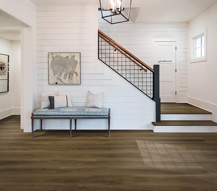 Coles Fine Flooring   Karastan Luxury Vinyl Plank entryway
