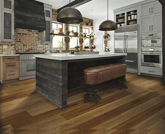 Coles Fine Flooring | Karastan Luxury Vinyl Plank kitchen island