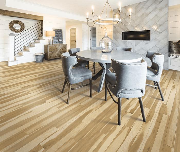 Coles Fine Flooring | Karastan Luxury Vinyl Plank dining room