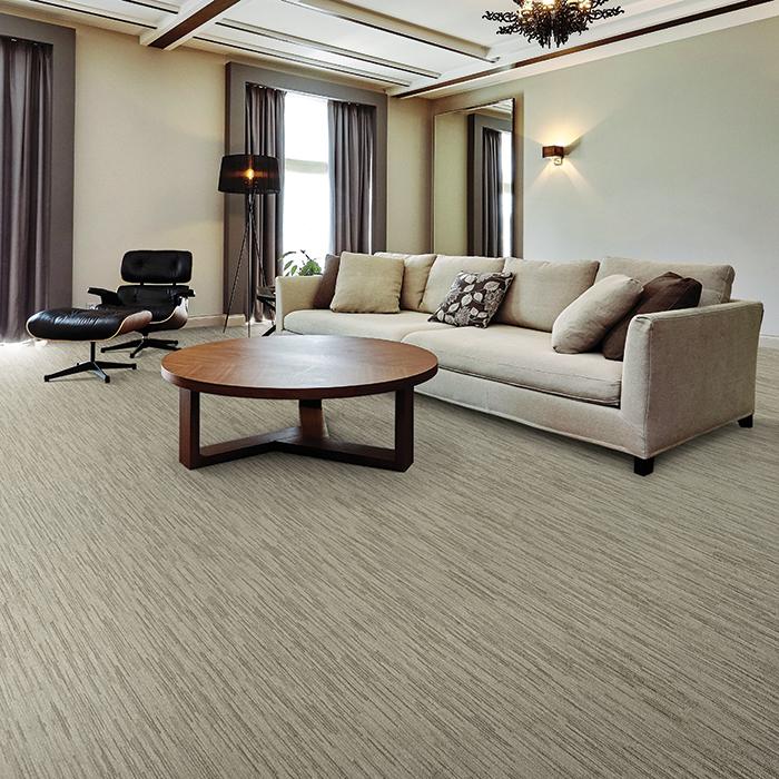 Coles Fine Flooring | tan patterened carpet living room