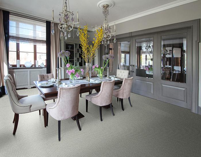 Coles Fine Flooring | grey carpet dining toom