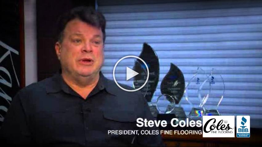 Coles Fine Flooring   Steve Coles for BBB video