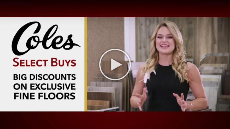 Coles Fine Flooring   Big distcounts of select buys video