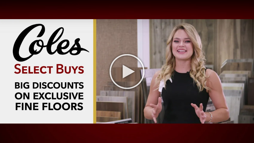 Coles Fine Flooring | Big distcounts of select buys video