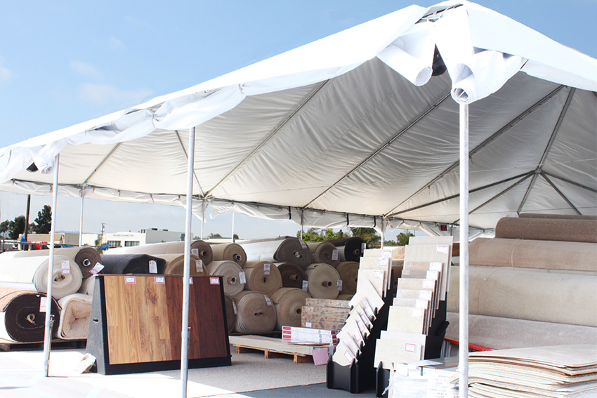 Coles Fine Flooring | tent sale