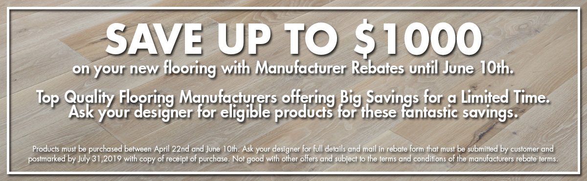 Coles Fine Flooring | manufacturer rebates