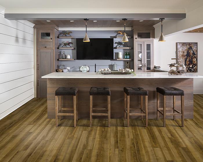 Karastan vinyl floors San Diego. Dark wood