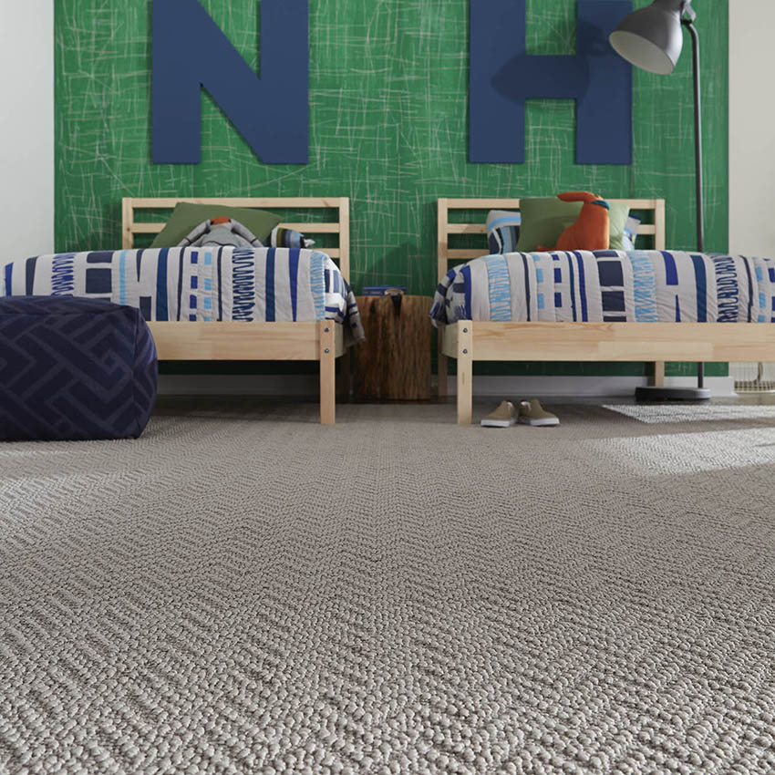Coles Fine Flooring | Herringbone patterned carpet kids room