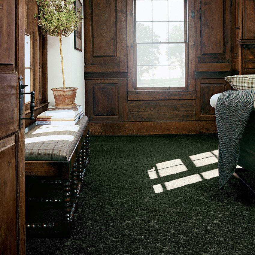 Coles Fine Flooring | emerald jewel toned carpet bedroom