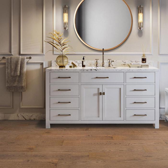 Coles Fine Flooring   Mohawk UltraWood hardwood bathroom