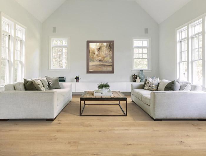 Coles Fine Flooring   Mohawk UltraWood hardwood living room