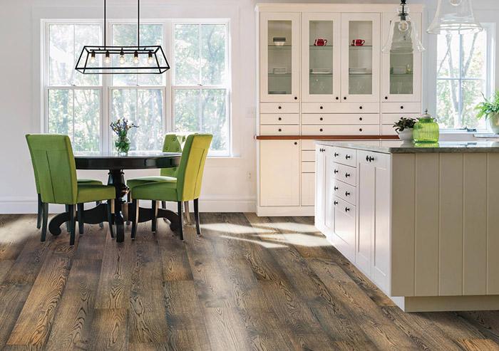 Coles Fine Flooring   Mohawk UltraWood hardwood kitchen