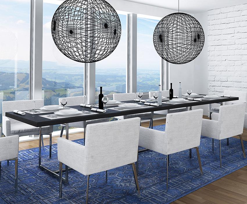 Coles Fine Flooring   Custom Area Rug dining room