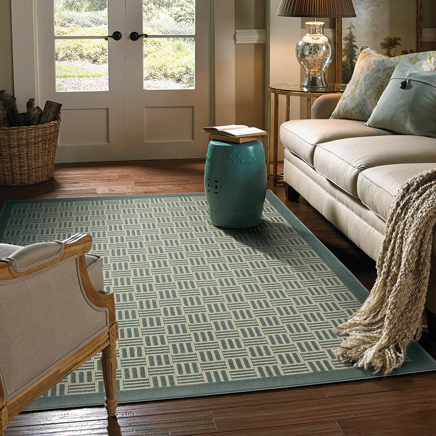 Coles Fine Flooring   Custom Area Rug with border