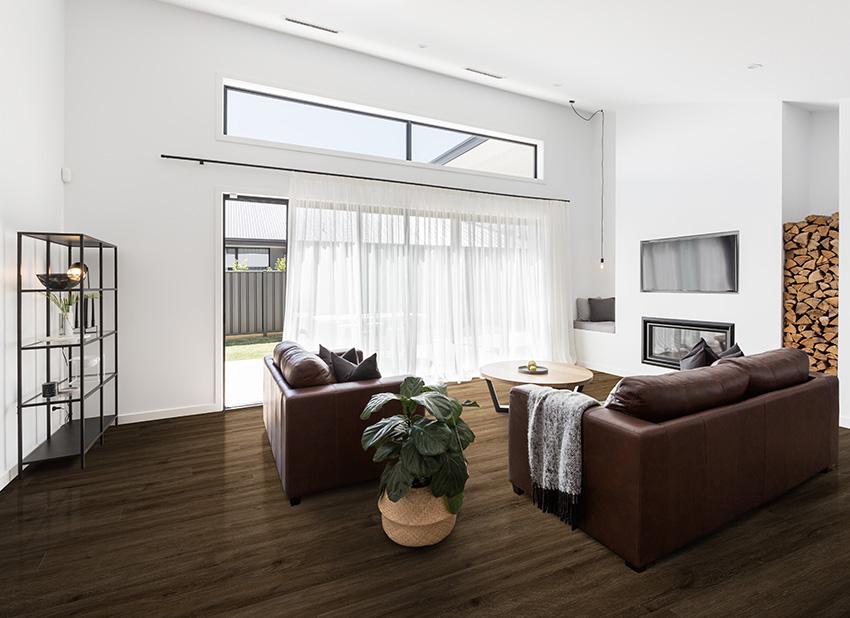 Coles Fine Flooring | dark hardwood small living room