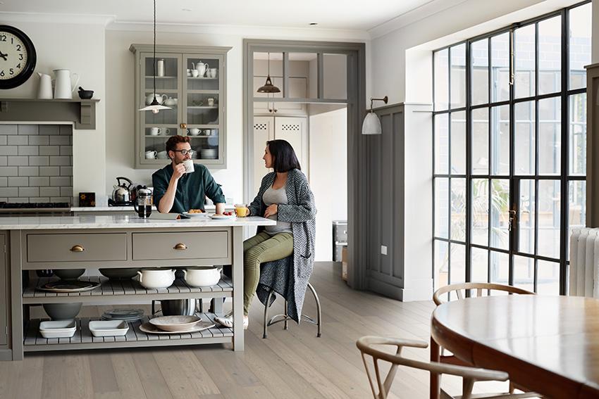 Coles Fine Flooring | trendy grey kitchen hardwood