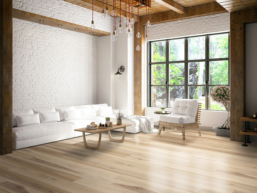 Coles Fine Flooring | warm brown hardwood living room