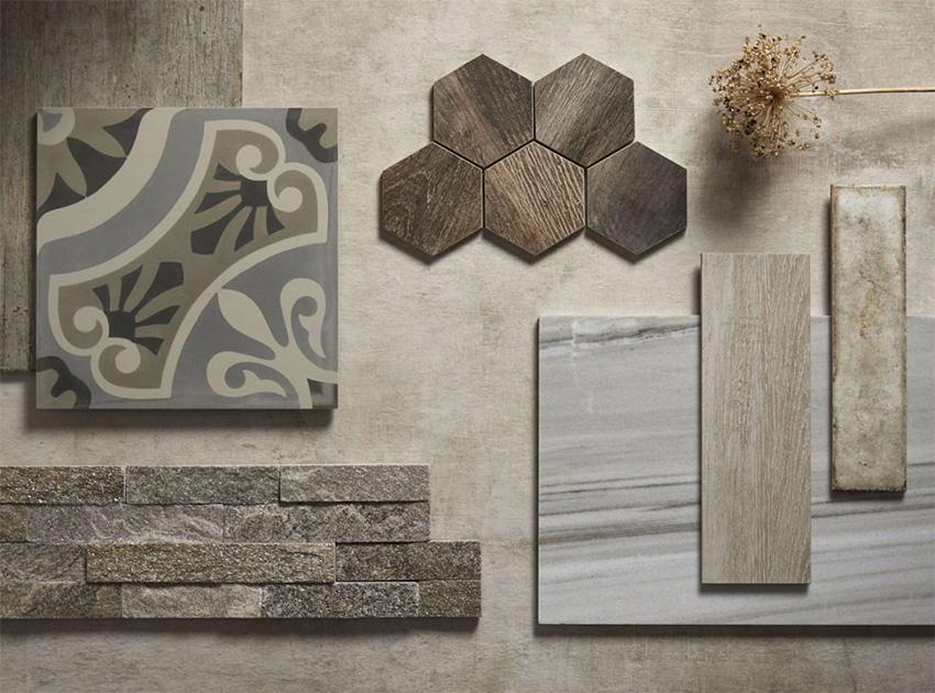 Coles Fine Flooring | Tile flatlay wood look tile